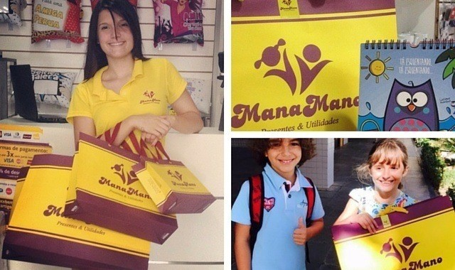 nova embalagem/sacola personalizada para presentes loja manamano fortaleza