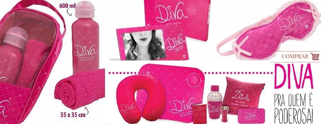 Fotos dos produtos da coleção Diva. ManaMano Presentes Criativos em Fortaleza. Loja física ou loja virtual.